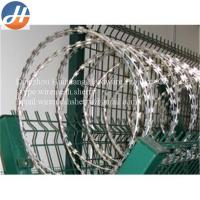 Buy cheap Hot-dip galvanized sharp razor barbed wire BTO-22 factory price from wholesalers