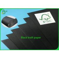 China 100% Recycled Black Core One Side Coated Black 250g Kraft Paper on sale