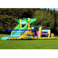 Buy cheap Jungle Theme Inflatable Bounce House Obstacle Course Rental Wearable Eco Friendly from wholesalers