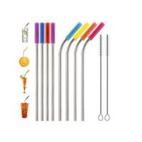 Buy cheap Food Grade Flexible Silicone Tubing Straw Sleeve Tip Round Shape FDA SGS Certificated from wholesalers