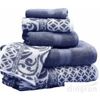 Buy cheap Luxuriously Soft Quickly Absorbed Yarn Dyed Cotton Jacquard Towel Set from wholesalers