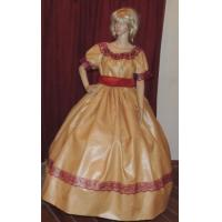 Buy cheap Wholesale  CIVIL WAR VICTORIAN PIONEER WESTERN Yellow Gold Costume Dress Gown with Hat product