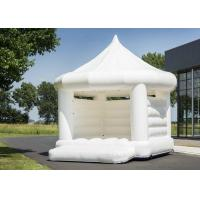Buy cheap White Wedding Inflatable Bounce House / 0.55mm PVC Bouncy Castle product