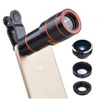 Buy cheap Universal 6 in 1 tripod 12X Zoom Telescope Fisheye Wide Angel Macro Lens For iPhone SE 6 7S Plus Samsung S8 S7 Redmi from wholesalers
