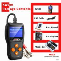 Buy cheap Free Upgrade System Car Battery Tester KONNWEI KW600 Black With Printer Launch product