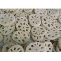 Buy cheap White Organic Frozen Vegetables Lotus Root Cuts With Rich Nutrition from wholesalers