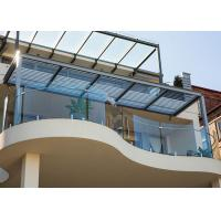 Buy cheap High Quality Curved Tempered Glass Railing With Stainless Steel Spigots Railing For Balcony from wholesalers