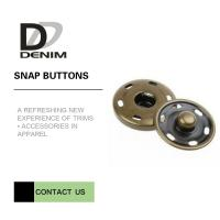 Buy cheap Brass Custom Sew On Snap Buttons For Overcoat Down Jacket / Cotton - Padded Clothes from wholesalers