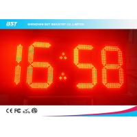 Buy cheap Double Sided Red Led Clock Display For Outdoor Sports , High Accuracy from wholesalers