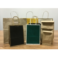Buy cheap Logo Printed Luxury Shopping Paper Bag , Recycled Paper Carrier Bags from wholesalers