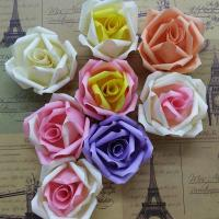Buy cheap DIY Wedding Small Fabric Craft Flowers 8 Colors Decorative Flat On Back from wholesalers