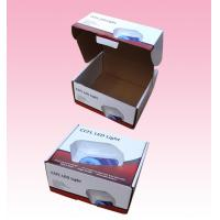 Buy cheap custom F-flute corrugated Cardboard Packaging Boxes with Locking Lid for LED Light from wholesalers