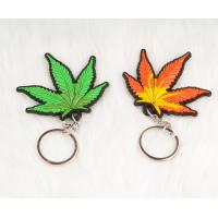 Buy cheap Green Custom Design Printed Key Chains Shaped 3D Rubber 5 * 5cm product