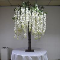 Buy cheap Real Wood Trunk Silk Wisteria Wedding Decoration Tree Moisture Resistant from wholesalers