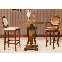 Buy cheap Classic Espresso Counter Height Bar Stools , Wooden Swivel Bar Chairs With Back from wholesalers