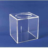 Buy cheap Acrylic Storage Boxe , Clear Acrylic Suggestion Box 5mm x 150mm x150mm from wholesalers