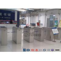 Buy cheap 2 Ways Outdoor Flap Barrier Gate Barcode System Controlled Access Turnstile product