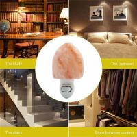 Buy cheap Euro Hand Carved Natural Shape Pure Crystal Himalayan Salt Rock Night Light Wall Lamp Hotel Decoration Air Purifier from wholesalers