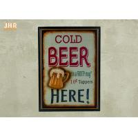 Buy cheap Beer Wall Plaques Home Decorations Decorative Wall Art Signs MDF Pub Wall Decor from wholesalers
