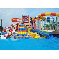 Buy cheap Customized Spiral Swimming Pool Water Slides Outdoor 12 Meter Platform product