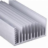 China Clear Anodized 6063-T5 Aluminum LED Heat Sink Extrusion Profiles With Tapping , Stamping on sale