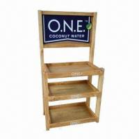 Buy cheap Beverage Display Rack with Four Adjustable Feet and Knockdown Structure  product