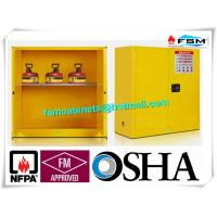 Fire Proof Outdoor Chemical Storage Cabinets , Gas Cylinder Safety Cabinets
