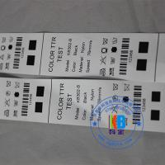Buy cheap Garment label fabric type barcodes printing economic printed polyamide nylon taffeta care label from wholesalers