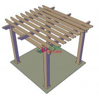 Buy cheap DIY wood plastic composite pergola Construction for garden / 4mx4mx3m / OLDA-5001B from wholesalers