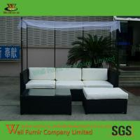 Buy cheap Supply Chaise Lounge Ottoman, Poolside Sun Lounger, Rattan Garden Furniture,Sofa Set from wholesalers