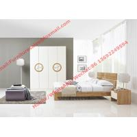 Buy cheap Modern design KD bed furniture set by melamine and white glossy door wardrobe product
