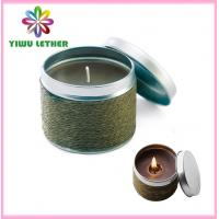 Buy cheap Straw Weaving Covered Tin Candles, Non-smoke Scented Candles, Mosquito Repellent Candles, Outdoor Candle from wholesalers
