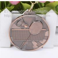 Buy cheap Custom antique bronze metal blank badminton medals, metal blank badminton medals, from wholesalers