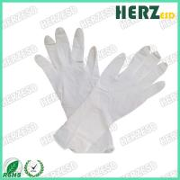 Buy cheap Waterproof Anti Oil ESD Hand Gloves , Nitrile Exam Gloves Powder Free Stretchable from wholesalers