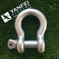 Buy cheap Qingdao Yanfei Rigging -Rigging Hardware-1/4 5/16 Electric galvanized G209 Bow Type Shackle from wholesalers