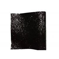 PU Textile Chunky Glitter Fabric Wall Coverings Black Wallpaper 25cm*138cm