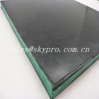 Buy cheap Wear - Resisting 30mm Black + Green + Black Sandwich Skirting Rubber Sheet Panel product