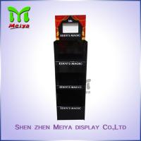Buy cheap 3 - Tiers Black FSDU Cardboard Floor Displays , Corrugated Display Stands With Lcd Screen from wholesalers