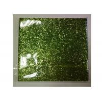 Buy cheap Light Green Frosted Chunky Glitter Fabric 0.55mm Thickness For Shoes And Wallpaper from wholesalers