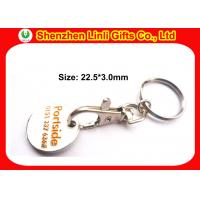 Buy cheap Engraved customs metal keychains token holder keychain for marketing LL-HK1004281 from wholesalers