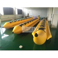 Buy cheap Yellow 8 Seats Inflatable Toy Boat Water Game Banana Boat Inflatable Water Toy from Wholesalers