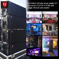 Buy cheap LA-12&LA-18 Line array single 12  line array 1*12LF 1*3HF and single 18 inch sub woofer from wholesalers