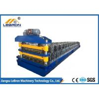 Buy cheap 10-15m/min Double Layer Roll Forming Machine , Galvanized Roof Sheet Forming Machine from wholesalers