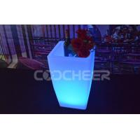Buy cheap Rechargeable Glow illuminated garden planters led plant pots color changing Ip65 from wholesalers