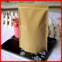 Buy cheap Ziplock Kraft Paper Shopping Bag Stand Up 3 Side Sealed Rectangle from wholesalers
