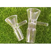Buy cheap 14mm Smoking Borosilicate Glass Bowl Male Joint Clear Dry Herb Bongs With Handle from wholesalers