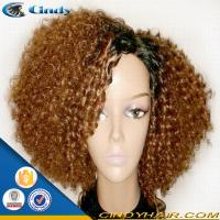 Buy cheap best quality 100% brazilian short blonde afro kinky twist curly full lace wigs from wholesalers