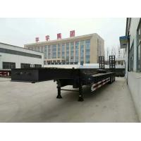 Buy cheap 3 Axle Lowbed Semi Trailer , Low Flatbed Trailer With Air Suspension System from wholesalers