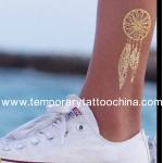 Buy cheap flash tattoo custom metallic color tattoo gold tattoo from wholesalers