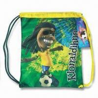 Buy cheap Drawstring Bag, Versatile, Easy to Carry, Made of 420D Polyester with PU Coating from wholesalers